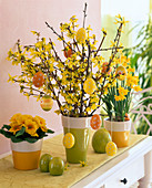 Forsythia (gold bells) Easter bouquet