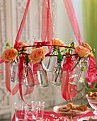 Pink 'Versilia' (Roses) Salmon, Betula (Birch)