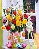 Tulipa, yellow, red, orange tulips