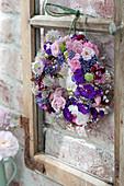 Wreath of Rose, phlox, lavandula