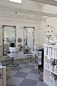 Hairdresser's salon in Scandinavian country-house style