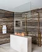 Luxury marble shower area