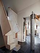 Moderne Architektur mit Naturmaterialien
