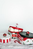 Old biscuit tins given new festive designs