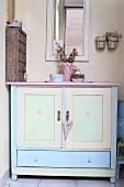 Vintage cabinet in pastel shades
