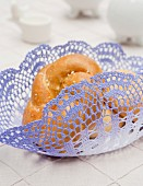 Bread basket made from lace doily