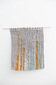 Wandteppich mit Streifen aus recyceltem T-Shirtgarn