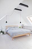 Simple attic bedroom