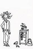 Illustration zum Thema Aufräumen: Recht ordentliche Diele