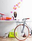 Bicycle and neon details