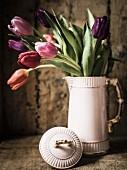 Tulips in vintage jug