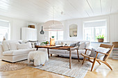 Comfortable, Scandinavian-style living room