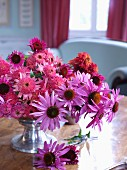 Bouquet of various pink flowers