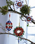 Decorative bead Christmas tree baubles
