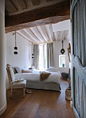 Bright bedroom with traditional charm