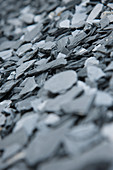 Close-up of slate gravel