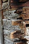 Weathered wooden beams (detail)