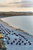 Scharbeutz beach in Schleswig-Holstein, Germany