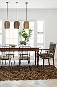 Dining room with rustic and natural ambiance
