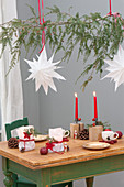 Homemade decoration from paper bags