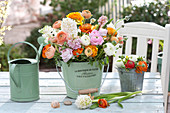 Fragrant bouquet of Ranunculus and Hyacinthus