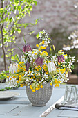 Spring bouquet from Primula veris