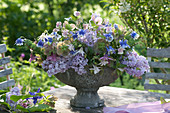 Aromatic arrangement of Syringa vulgaris, Aquilegia, Helleborus