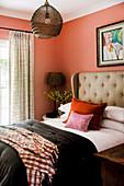 Cozy bedroom in warm colors