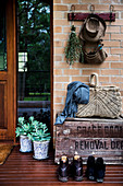 Rustic decorations on the doorstep