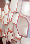 Partition made from hexagonal elements