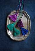 Hand-made tassels in various colours