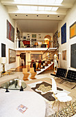 Gallery level in double-height loft apartment