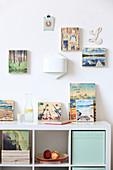 Fotos als Holzbilder an der Wand