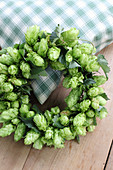 Wreath of hop flowers