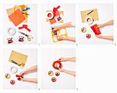 Anleitung für Geschenkanhänger mit rund ausgeschnittenen Fotos