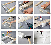 Instructions for making ladder shelves