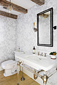 Vintage bathroom in American country-house style