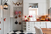 White country-house kitchen in Scandinavian style