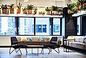 Work lounge in loft interior