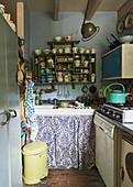 Small, vintage-style kitchen