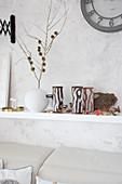 Handmade tealight holders with tree-trunk motif
