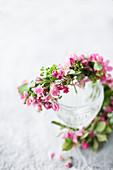 Girlande aus Blüten vom Zierapfel