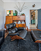 Eames Lounge Chair in living room in Mid-century modern style