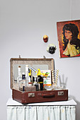 DIY drinks case made from old suitcase