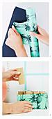 DIY-Stiftehalter aus Schuhkarton basteln