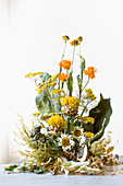 Arrangement of dried flowers