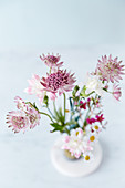 Natural flower arrangement with astrantia