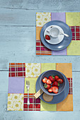 Sewn, patchwork, paper table mats