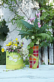 Sewn paper vase covers