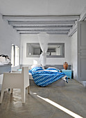 Bedroom in modern Greek style